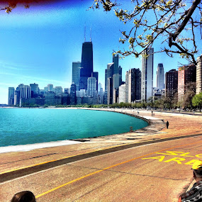 Chicago waterfront  by Anny Patterson - Landscapes Waterscapes ( #chicagowaterfront # )