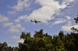 Photo: San Diego - Balboa Park - View on the approaching planes