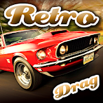 Retro Drag Racing Icon