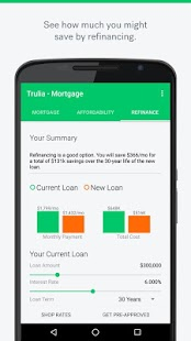 Trulia Mortgage Calculators- screenshot thumbnail