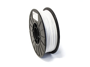 White PRO Series PETG Filament - 3.00mm (1lb)