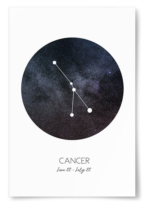 Poster Stjärntecken Kräftan