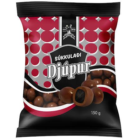 Súkkulaði Djúpur – mjölkchoklad med isländsk lakrits - Freyja