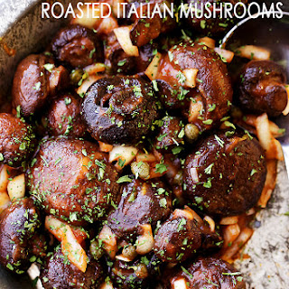Roasted Italian Mushrooms