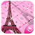 Pink Girl Eiffel Tower Keyboard Theme file APK Free for PC, smart TV Download
