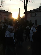 Photo: Before sunrise, throngs of people descended upon the National Mall in DC.
