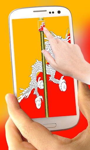 玩免費工具APP|下載Bhutan Flag Zipper Lock Screen app不用錢|硬是要APP