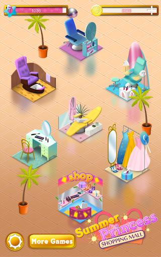 夏の王女のショッピングモール