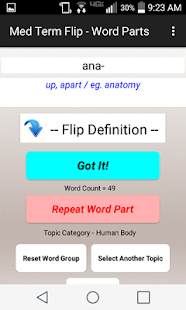 Med Term Flip - Word Parts - Apps on Google Play