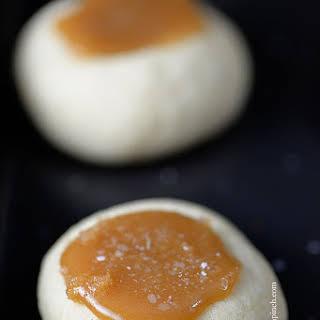 Salted Caramel Thumbprints Cookies.