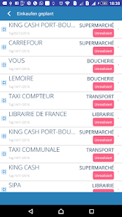 Shopping Tracker Screenshot