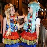 colorful chinese girls at halloween street party in Hong Kong in Hong Kong, , Hong Kong SAR