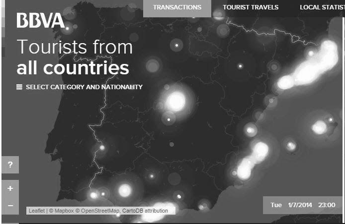 BBVA Turistleri Gözlemliyor