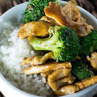 Chicken with Broccoli and Coconut Rice Recipe