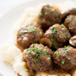 Instant Pot Swedish Meatballs with Mushroom Gravy.