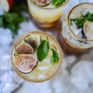 Apple Mint Shrub for a Maple Fig Bourbon Soda
