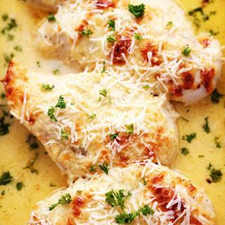 Creamy Baked Asiago Chicken.