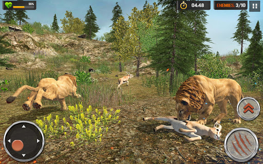 The Lion Simulator - Wildlife Animal Hunting Game modavailable screenshots 4