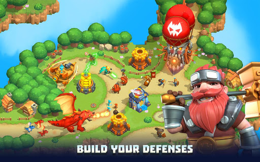Wild Sky TD: Tower Defense Legends in Sky Kingdom screenshots 9