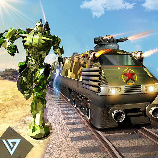 Army Train Shooter : Robot Transformation Game