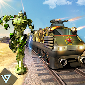 Futuristic Train - Army Robot Transform Shooter