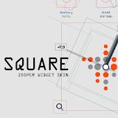 Square Zooper Widget Skin