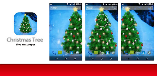 Christmas Tree Live Wallpaper app (apk) free download for Android/PC/Windows screenshot