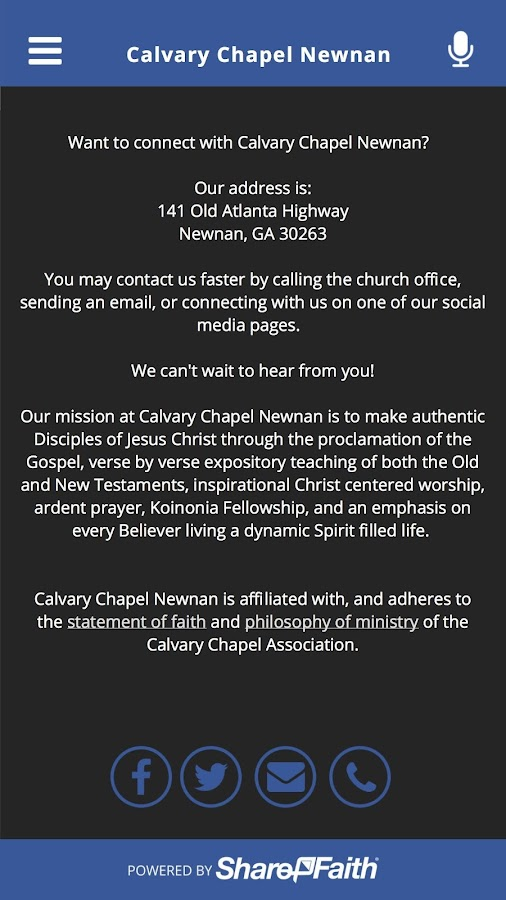 Calvary Chapel Newnan- screenshot