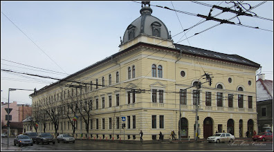 Photo: Cluj-Napoca - Piata Avram Iancu, Nr.13 - intersectie - Institutul Teologic Protestant - 2018.01.19