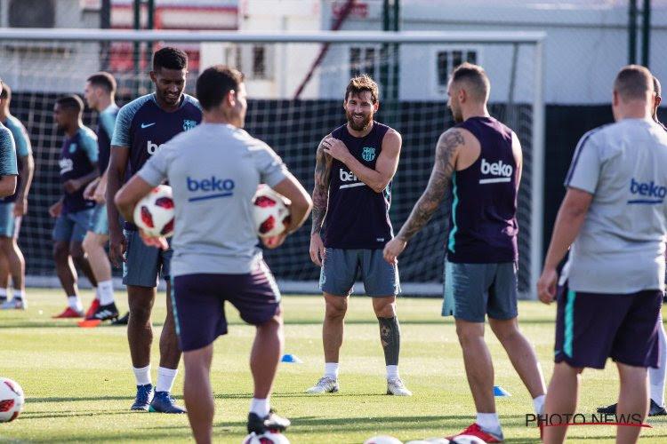 Leo Messi toujours pas de retour à l'entraînement du Barça
