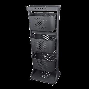 Organizator negru Kat Kat Basket, 43.7 x 33.2 x 112 cm