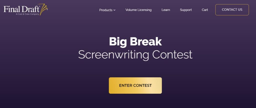 Screenwriting Contests for submitting a screenplay this year
