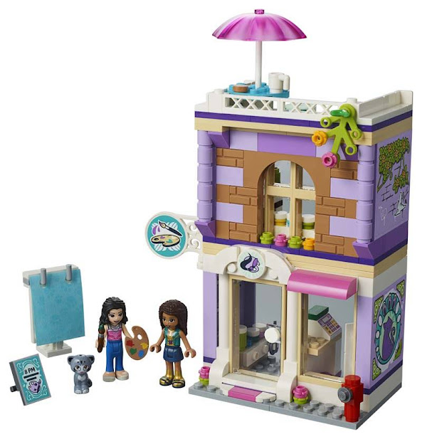 Contenido de Lego® 41365 Estudio Artístico de Enma