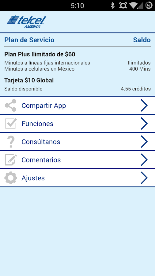 Telcel America Direct Int'l - screenshot