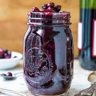 Cabernet Cranberry and Blueberry Sauce