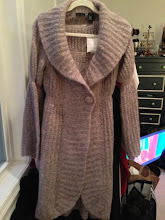 Photo: $45. Moda Int'l fluffy lavender sweater coat with bell sleeve.