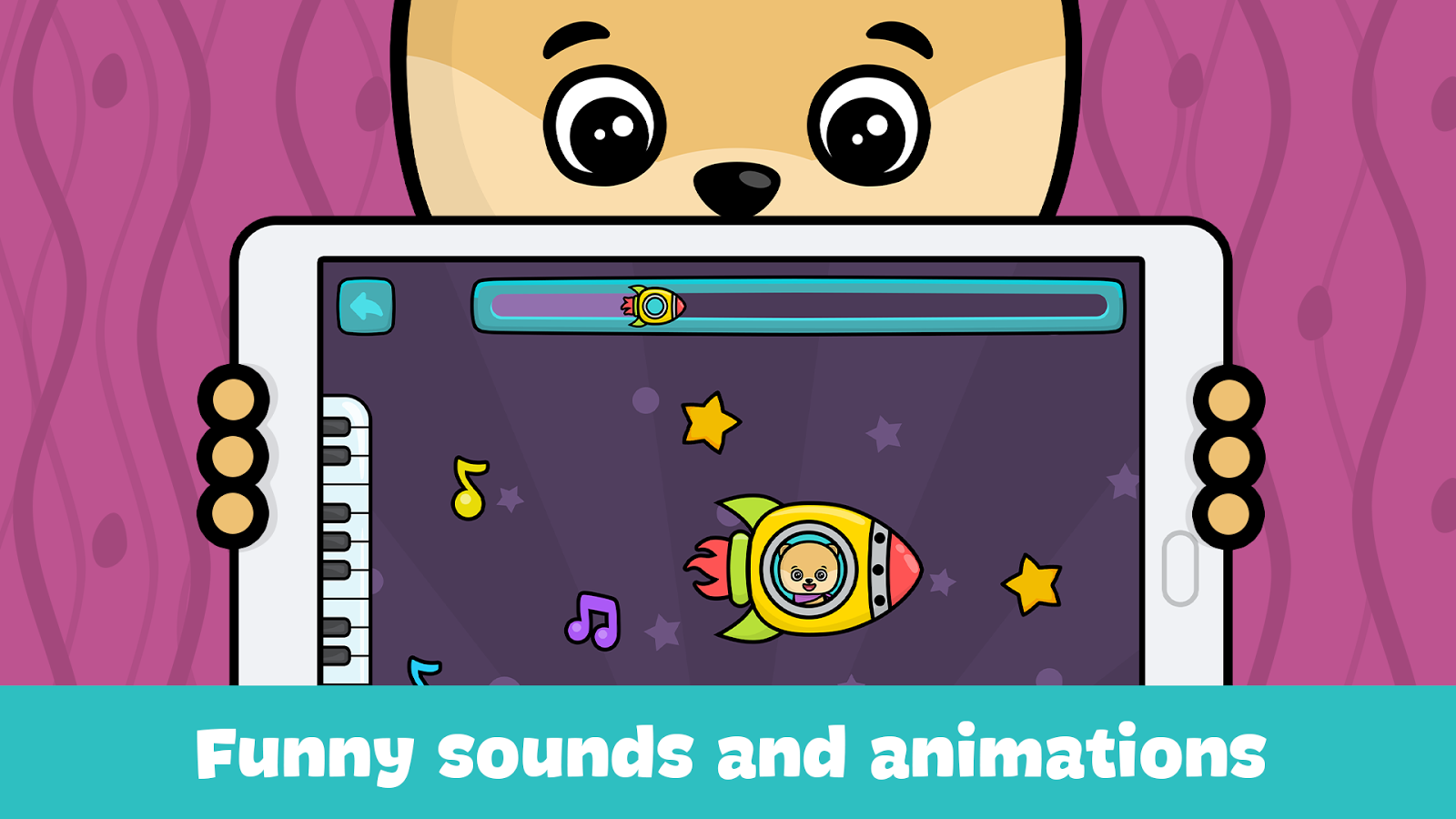 Baby piano and music games for kids and toddlers- screenshot