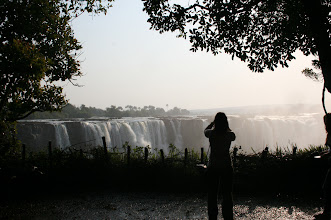 Photo: Mary looking at Victoria Falls from the Zimbabwean side. http://www.go2africa.com/zambia/victoria-falls