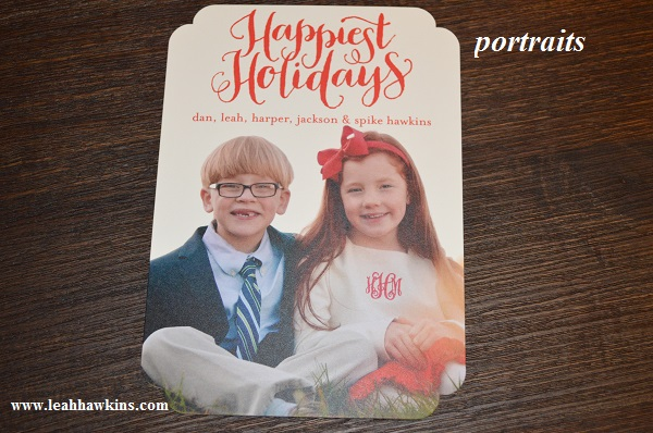 portraits for the christmas cards