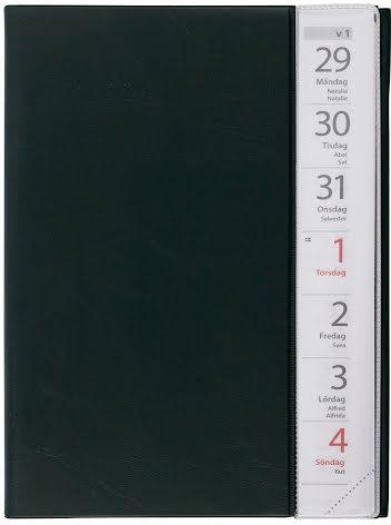 Stor Veckokalender plast svart