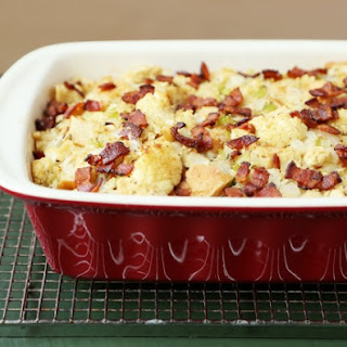 Roasted Cauliflower and Bacon Focaccia Stuffing