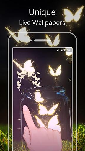 Neon Butterfly Live wallpaper