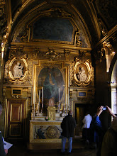 Photo: Adjacent to the main Palace is a smaller one called the Petit-Luxembourg, which has been the official residence of the President of the French Senate since 1958. The Queen's Chapel was created in Baroque style by Alphonse de Gisors in 1854, using an aisle of the Filles du Calvaire church which was destroyed in 1844. Above the altar is an Ernestine Philippain copy of the Mater Dolorosa (original attributed to Philippe de Champaigne and in the Museum of Dijon).