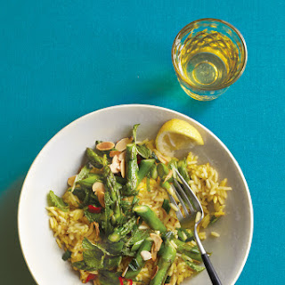 Lemony Minted Asparagus with Saffron Rice