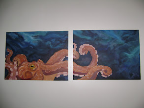 """Photo: Octopus: 18"""" x 24"""" each canvas (SOLD)"""