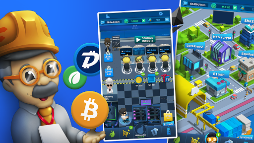 Crypto Idle Miner - Bitcoin Tycoon 1.4.1 screenshots 1