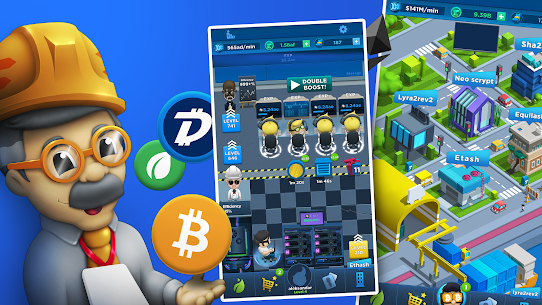 Crypto Idle Miner – Bitcoin Tycoon Mod Apk 1.7.2 (Unlimited Currency) 1