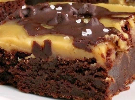Fudgy Caramel Topped Pretzel Brownies Recipe