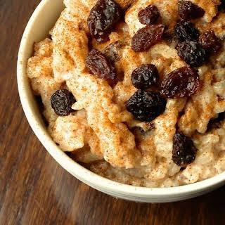 Rice Pudding With Cinnamon And Raisins Recipes.