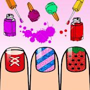 Nails Art: Girls Fashion Coloring Book